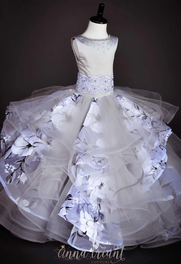 "Anna Triant Couture | Products | Flower Girl Dress | ""Fiorenza"" Gown"