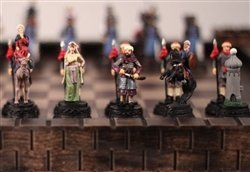 Metal Crusade Recreational Strategy Game Chess Setpiece Equipment -- Click image for more details.