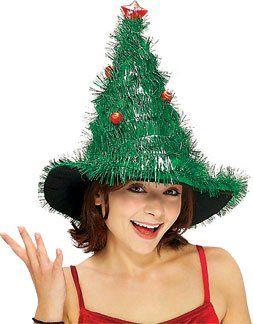 Adult's Light Up Christmas Tree Costume Hat
