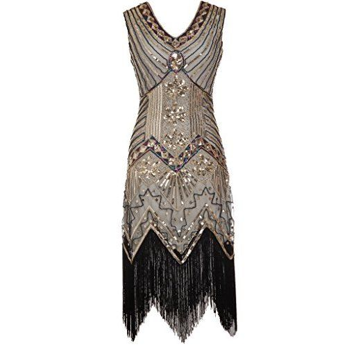 shoppen sie babeyond damen flapper kleider voller pailletten retro 1920er jahre stil v. Black Bedroom Furniture Sets. Home Design Ideas