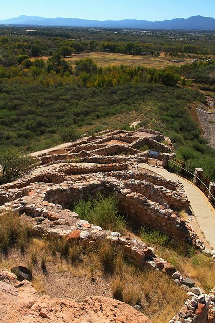 Tuzigoot National Monument in Camp Verde, Arizona. An ancient pueblo said to be built around 1000 years ago.