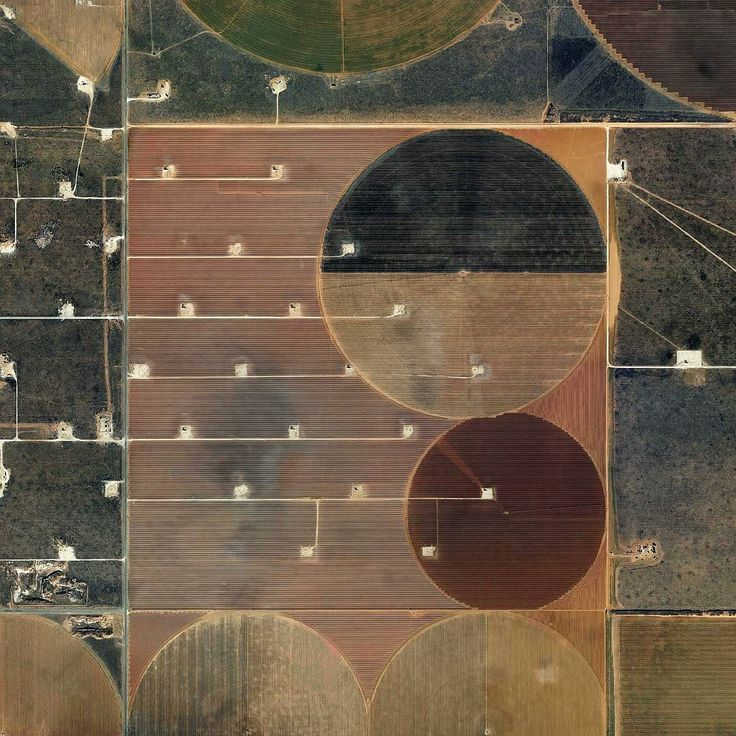 Near Seminole Texas.  #grid #landscape #agriculture #field #aerial #photography #earth #squaremile #brown #green #oilfield #texas by the.jefferson.grid