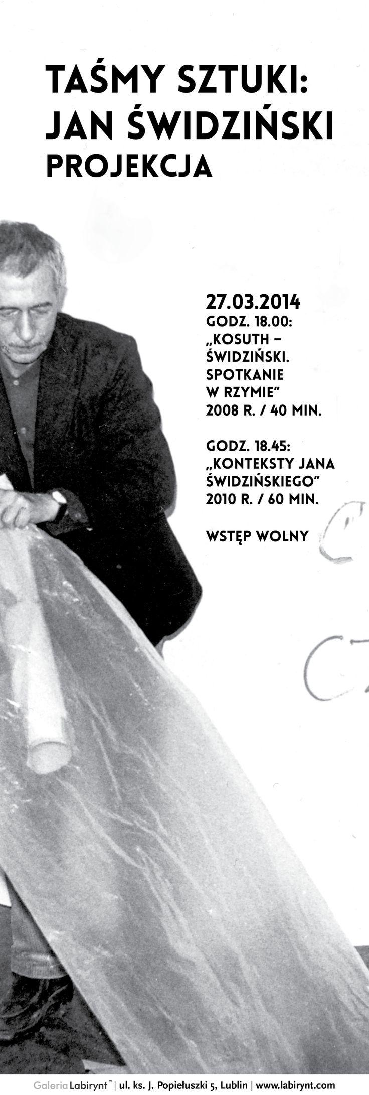 """Projekcja: """"Taśmy sztuki"""" Jan Świdziński"""