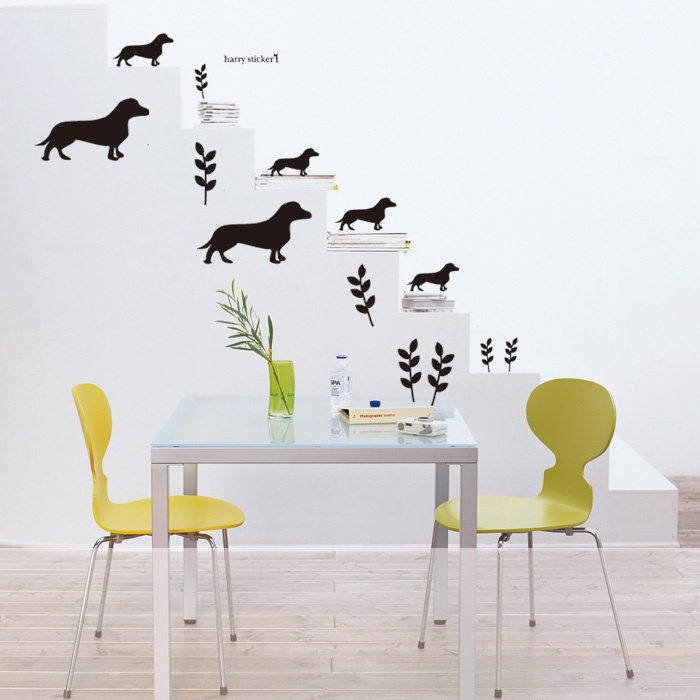 1000 images about wall stickers dog on pinterest dog for Interieur stickers