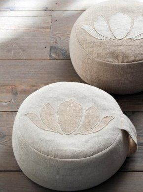 cool poufs--mama g could make some of these w custom designs related to kundalini