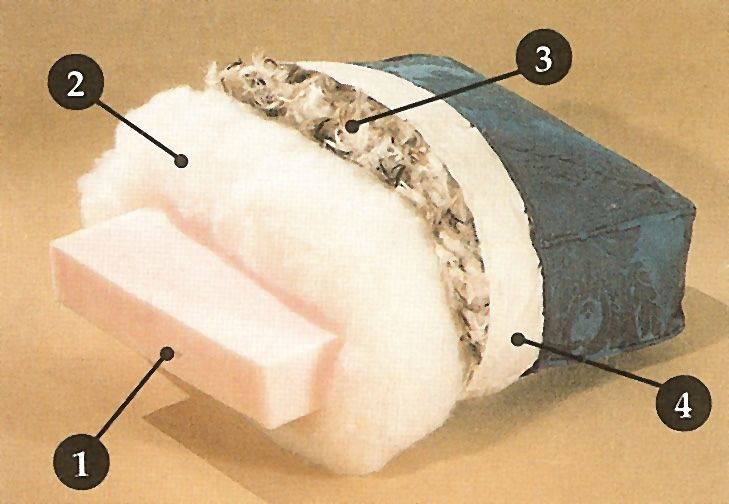 Seat Cushion with down wrapped foam