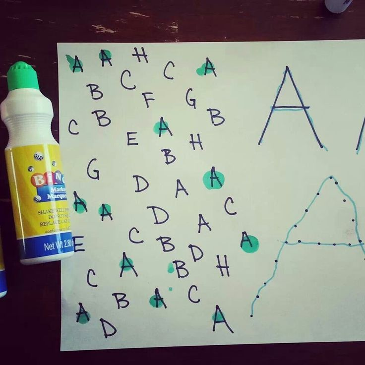 3 great steps for learning letters - find, trace, and on your own.