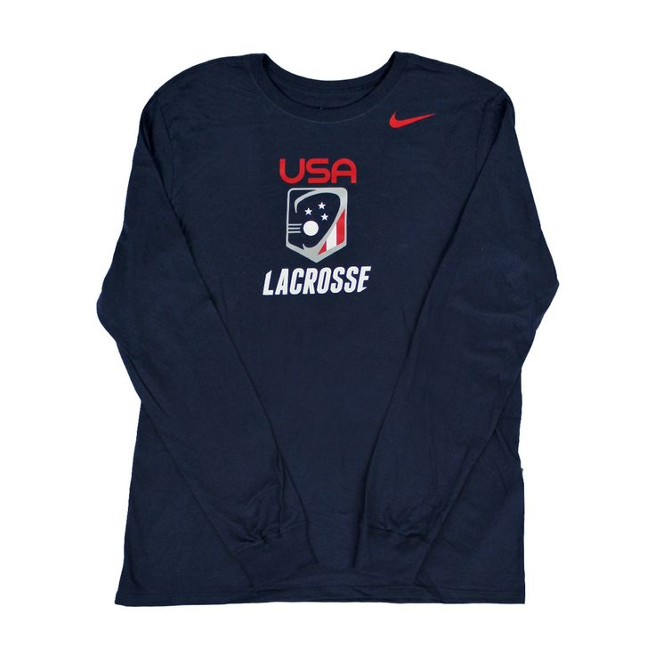 USA Nike Apparel for the 2017 Season Nike USA Lacrosse Long Sleeve Lightweight and comfortable. Color: Navy Sizes: Adult
