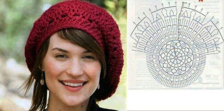 Boinas caidas a crochet patrones - Imagui