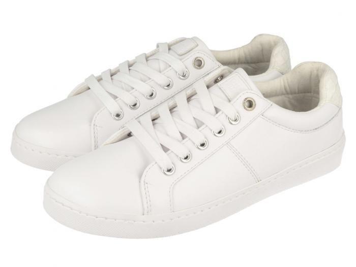 Felizia / Sneakers blancas de mujer fabricadas en material sintético, forro en tejido. Las zapatillas básicas que no pueden faltar en tu armario.