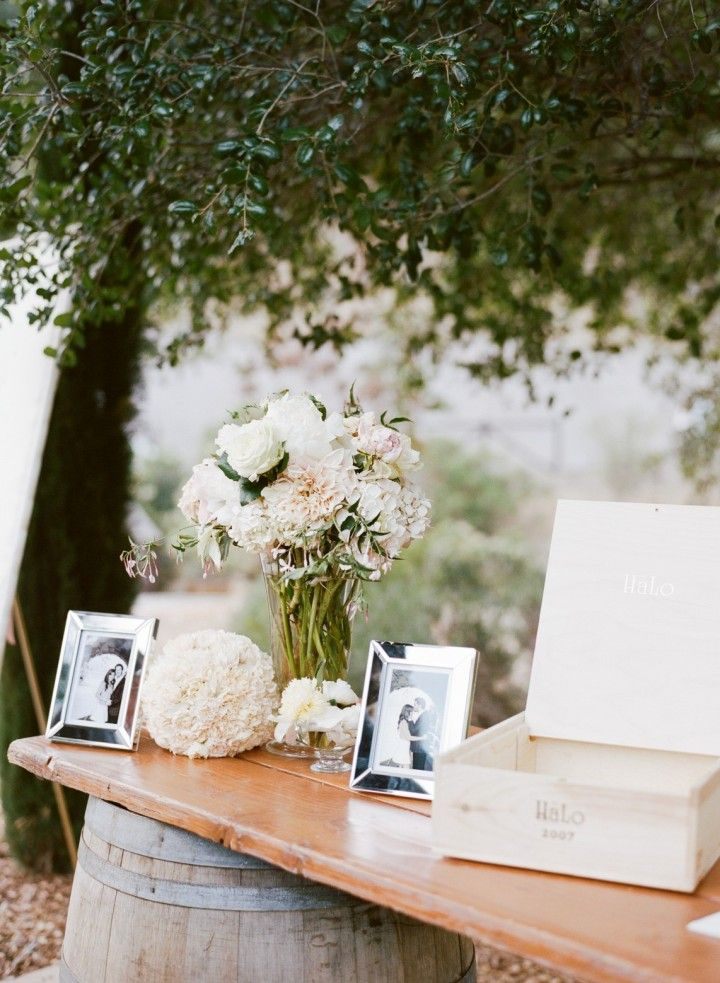 A Dreamy Napa Valley Wedding from Sylvie Gil Photography - wedding guest book table