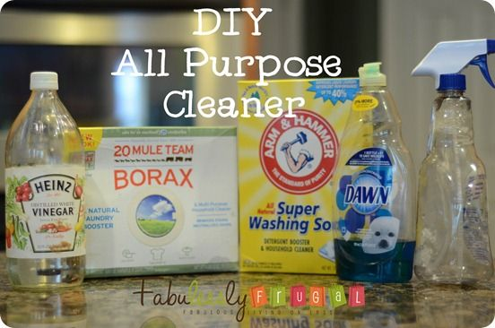 All Purpose Cleaner. http://fabulesslyfrugal.com/2012/04/diy-all-purpose-cleaner-picture-tutorial.html
