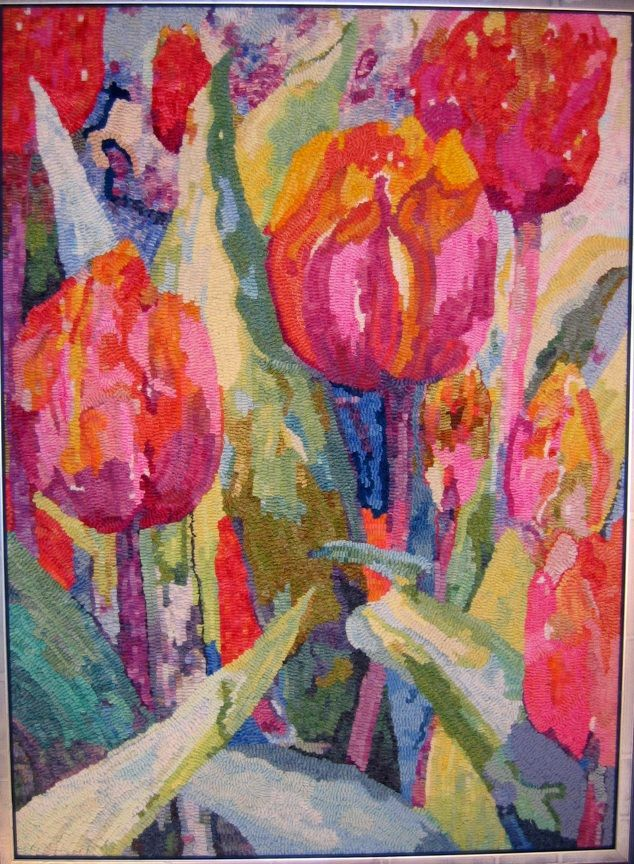 Tulips Colors These Are Amazing So Diffe Than What Is Usually Seen In Rug Hooking Patternsrug Patternsrag