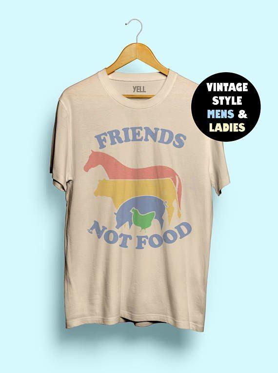 Gunstige Hillbilly Freunde Nicht Lebensmittel Baumwolle T Shirt Vintage T Shirt T Geschenk Fur Vegan Hemd Vege Vintage T Shirts Vegane Shirts T Shirt