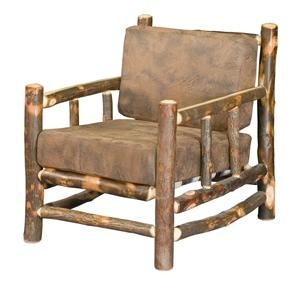 Amish Rustic Hickory Lodge Chair