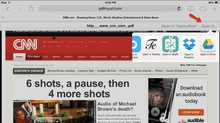 How to save a web page as a PDF in Safari on your iPad