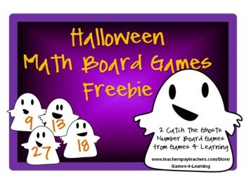 Halloween Math Board Games FREEBIE from Games 4 Learning give you 2 Board Games that are perfect for Halloween math activities. These are ideal as October math activities!