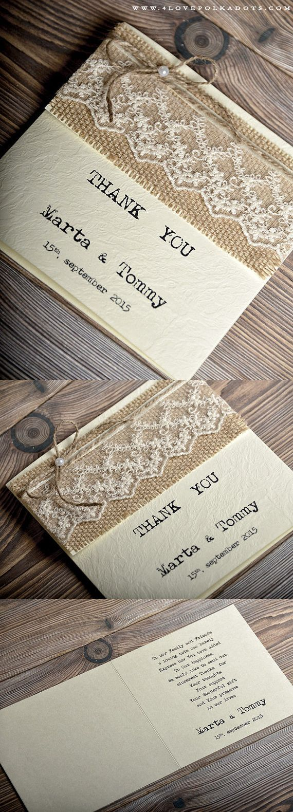 free online printable wedding thank you cards%0A Rustic Wedding Thank You Card  barn  countrywedding  handmade