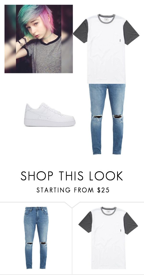 """""""Untitled #15"""" by trans-boy ❤ liked on Polyvore featuring Neuw denim, Billabong and NIKE"""