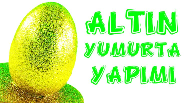 Altın DEV Sürpriz Yumurtayı Nasıl Yaptım? Kolay Simli Slime Tarifi