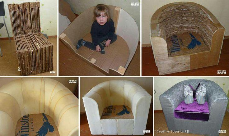 hermosa y economica idea de hacer un sillon.