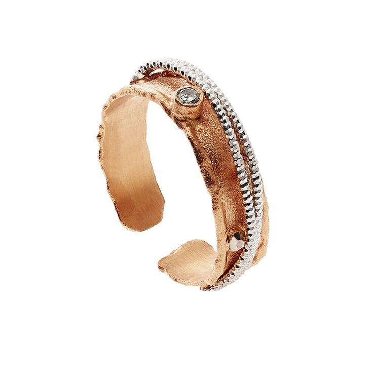 Oxette Rose Gold Silver 925 Ring - Available here http://www.oxette.gr/kosmimata/daktulidia/ster.silv.rosegold-pl.ring-with-cz-oxette-603l-1/ #oxette #OXETTEring #jewellery