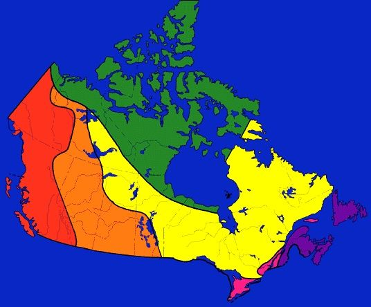The six physical regions of Canada are: The Atlantic, The Great Canadian Shield, The Arctic, The Plains, The Cordillera and the Great Lakes St. Lawrence Region. These six regions are very different from each other