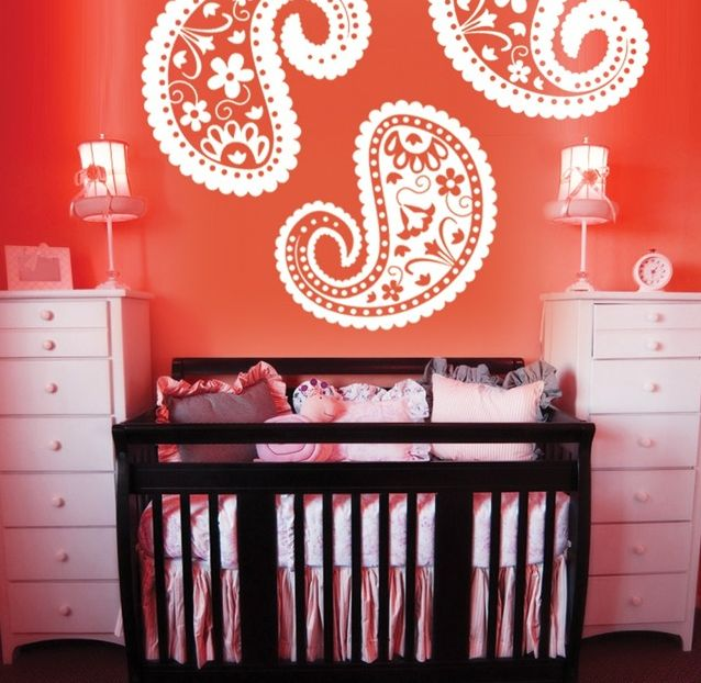 Paisley and Coral Nursery