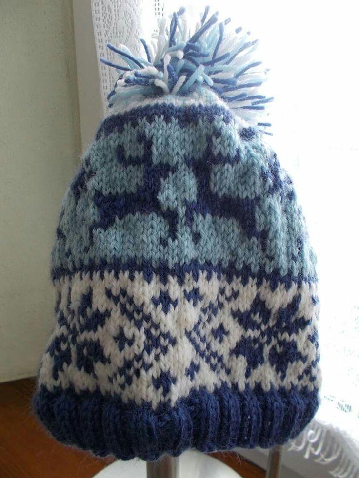 cappello renna motivo natalizio