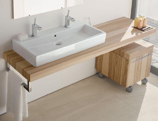 modern bath, double Duravit sink