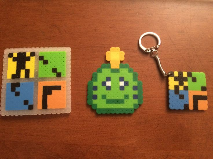 Geocaching Logo and Signal Frog #Keychain and #Magnet - Pixel #Perler, View more on the LINK: http://www.zeppy.io/product/gb/3/252439063/