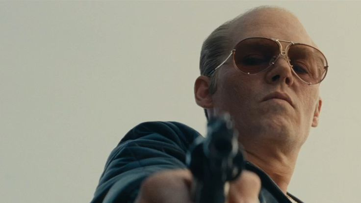 """(Part 1) - 'Black Mass' - September 18, 2015 - Johnny Depp looks like he's back on track for awards glory in director Scott Cooper's """"Black Mass,"""" where he's completely unrecognizable (and totally scary) as legendary Boston mobster Whitey Bulger. Joel Edgerton is the FBI agent who made Bulger a protected informant, with disastrous results. -  © WB"""