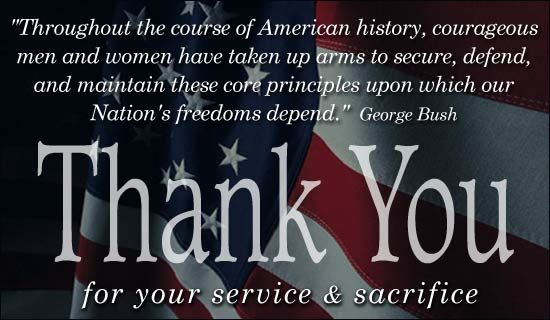 Free Thank You For Your Service eCard - eMail Free Personalized Veterans Day Car...