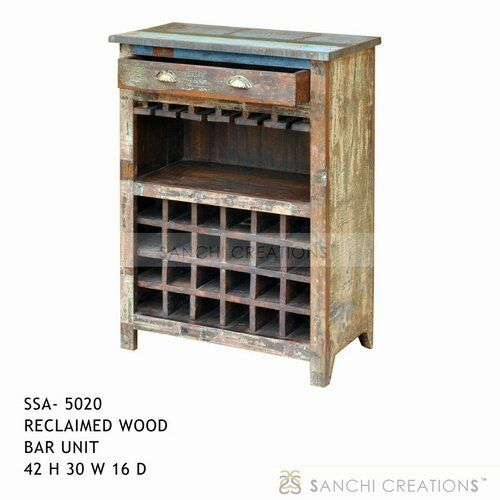 Reclaimed wood bar unit reclaimed wood bar table intended for Wooden bar unit