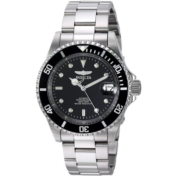 Invicta Men's 8926OB Pro Diver Stainless Steel Automatic Watch with... ($83) ❤ liked on Polyvore featuring men's fashion, men's jewelry, men's watches, mens watches jewelry, mens stainless steel watches, invicta mens watches, mens wide band watches and mens watches