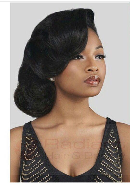 Best 25 black wedding hairstyles ideas on pinterest black kinkycurly relaxed extensions board wedding updowedding hair pmusecretfo Gallery
