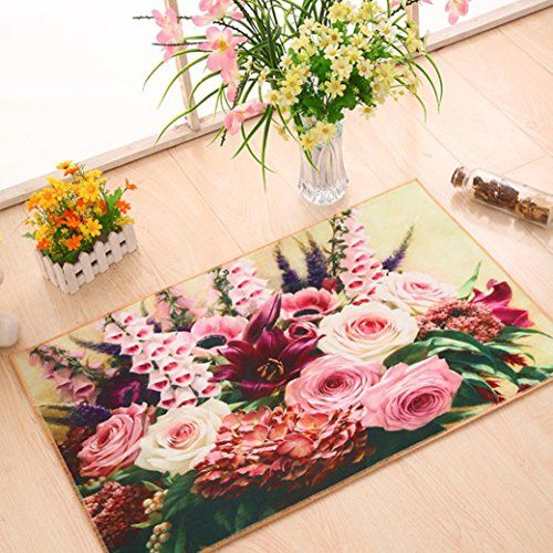 3D Landscape  Flower  Sea Decor DoorMatHighpot A Variety of Patterns Antiskid Removable Water Proof Home Decor Holiday Welcome Mat B >>> See this great product.
