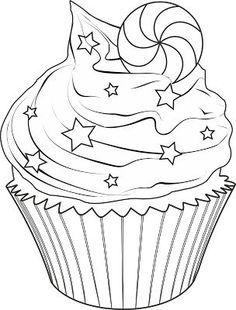 Dibujos Para Colorear Cupcakes Buscar Con Google Dibujos