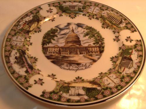 vintage decorative plate the capitol washington d c. Black Bedroom Furniture Sets. Home Design Ideas