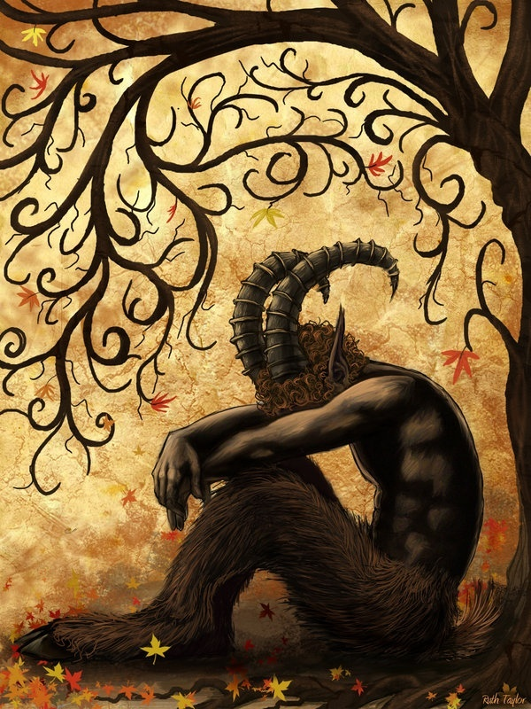 All fauns are sad. They're the saddest if the creatures, because they don't want others to know they're sad.
