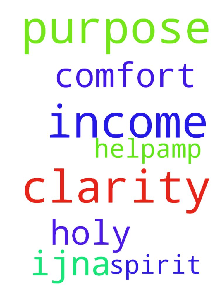 Clarity on Your will for my income, Lord, Your purpose. - Clarity on Your will for my income, Lord, Your purpose. Holy Spirit, helpamp; comfort me. Jesus, need You. IJNA Posted at: https://prayerrequest.com/t/CBn #pray #prayer #request #prayerrequest