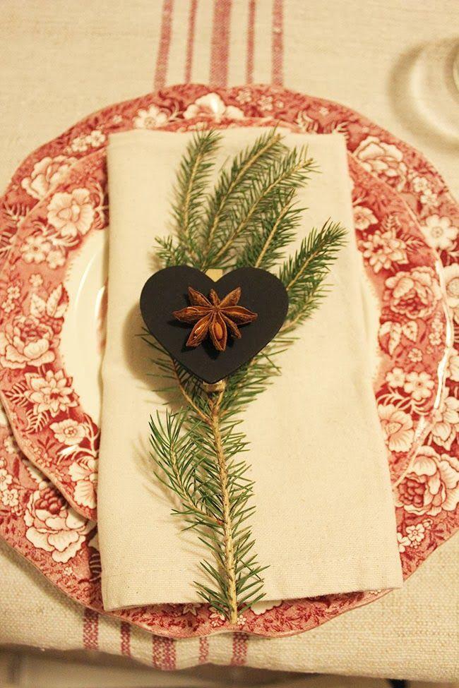 Home Shabby Home {Natale al verde}: Decorazione della Tavola #sharenatalealverde