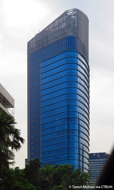 Central Park Office Tower, Jakarta-Indonesia, 41 fl, completion 2011, architect-Arkdesign
