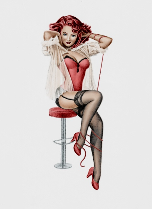 Redhead pinup