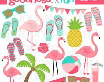 GET 3 FOR 2. Summer Tropical Clipart: by FRANCEillustration