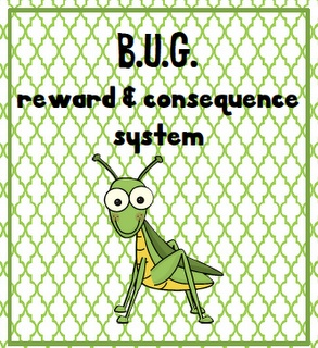 BUG discipline system. (Being Unusually Good). Bugs for being good, so many bugs= reward.  Actions requiring discipline warrant frogs, which eat the bugs.