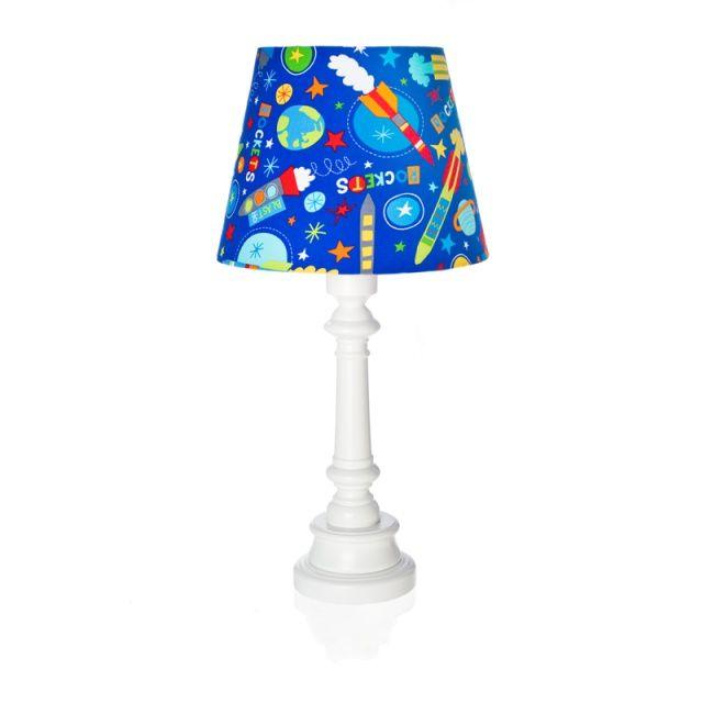 """Lampa """"Rakiety w kosmosie"""" - stożek  Zobacz inne produkty: http://bit.ly/1mHiui1  #lamps #forkids #design #dizajn #rockets #cosmos"""