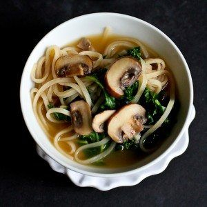 This 30-Minute Rice Noodle Soup recipe is great for last minute meals. The mushrooms and kale are not only healthy, but add fantastic flavor!
