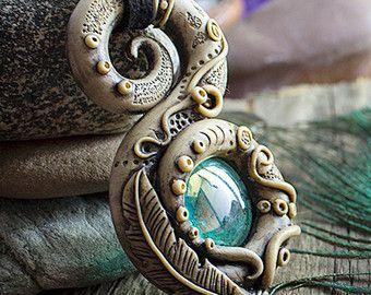 Fairy clay pendant Festival jewelry Gypsy boho by SweetlyART
