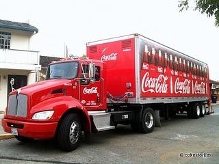 Coca-Cola hybrid truck in Los Altos, California
